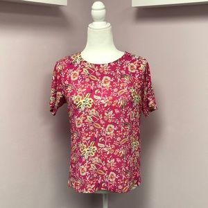 Rose + Olive XS Floral Short Sleeve Top